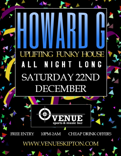 Howard G Saturday Poster