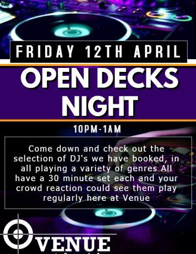 Open Decks Poster